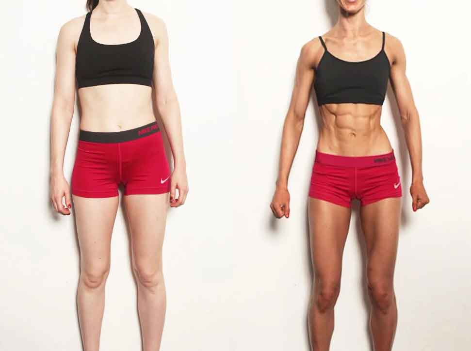 8 week fitness challenge before and after 1