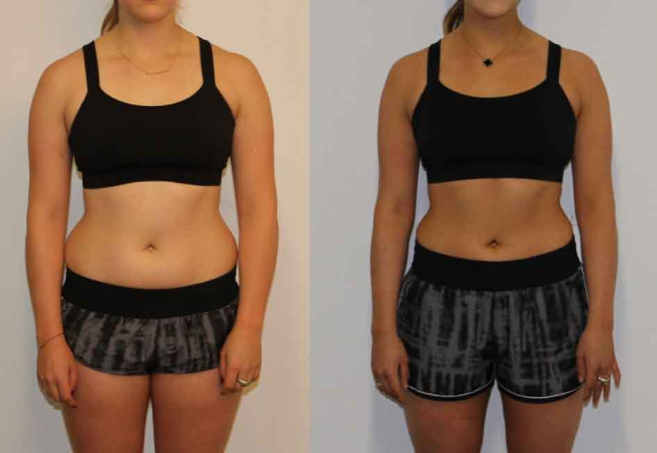 8 week fitness challenge before and after 12