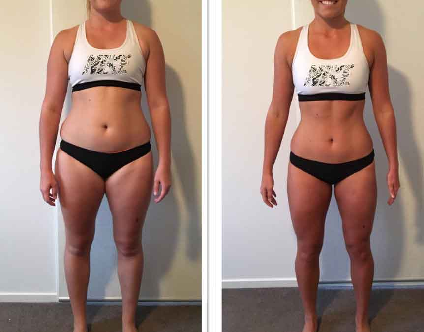 8 week fitness challenge before and after 8