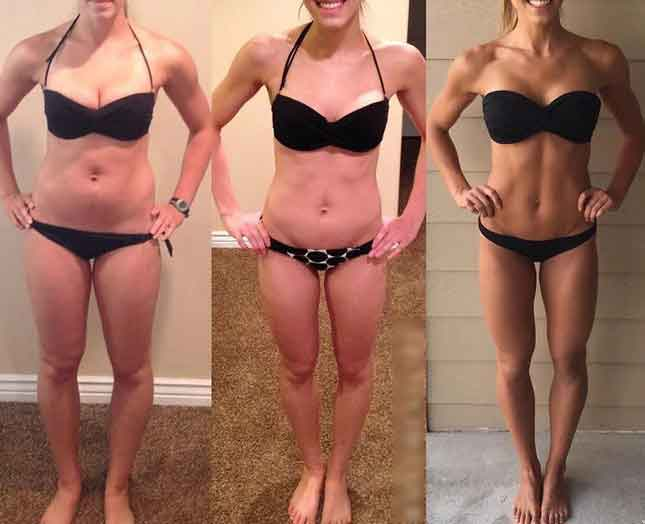 Before and after fitness photos 1