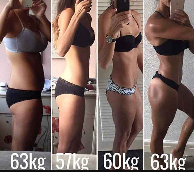 Before and after fitness photos 13
