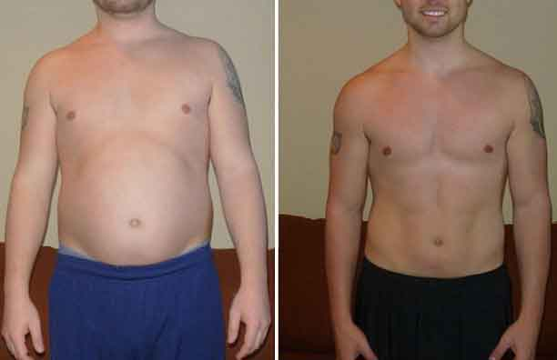 Bodyweight fitness 8 - Fitness before and after