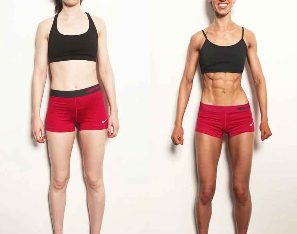 Fitness before and after meal 1
