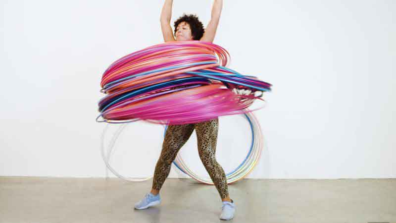 One month hula hoop pictures 2